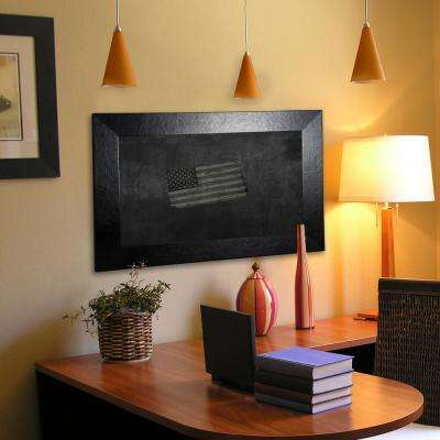 90 in. x 18 in. Black Wide Leather Blackboard/Chalkboard