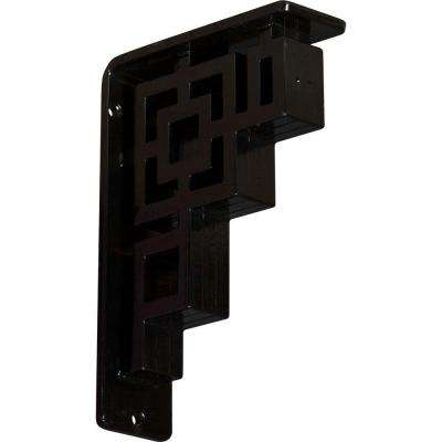 2 in. x 8 in. x 5-1/2 in. Wrought Iron Triple Center Brace Eris Bracket