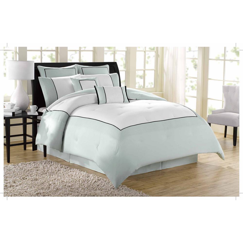 Soho New York Hotel 8-Piece Grey Queen Comforter Set by