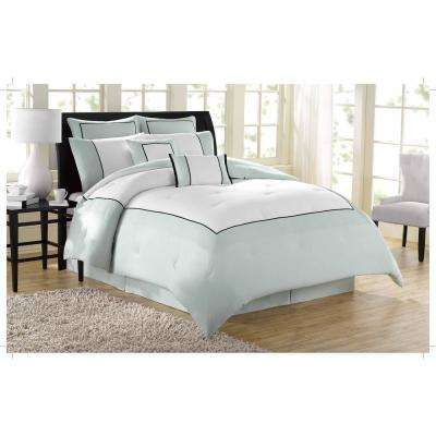 Soho New York Hotel 8-Piece Grey Queen Comforter Set