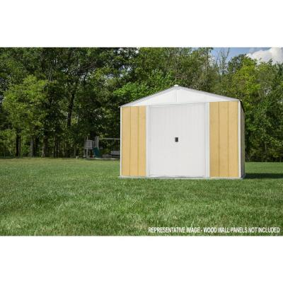 Ironwood 8 ft. W x 8 ft. D Cream-Finish Galvanized Steel Custom Hybrid Shed Kit