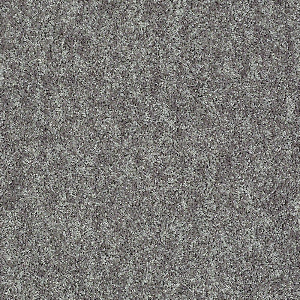 Carpet Sample - Willow - Color Grey Texture 8 in. x 8 in.