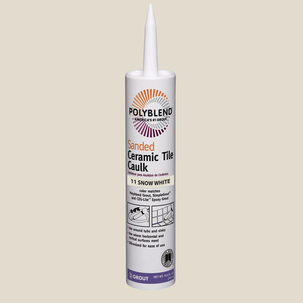 Polyblend #11 Snow White 10.5 oz. Sanded Ceramic Tile Caulk