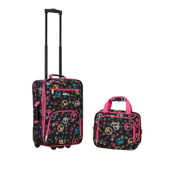 Rockland Rio Expandable 2-Piece Carry On Softside Luggage Set, Peace