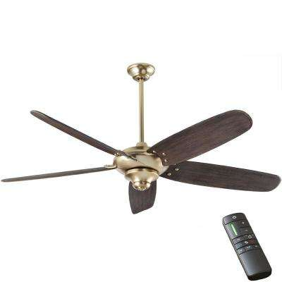 Altura DC 68 in. Indoor Brushed Gold Ceiling Fan with Remote Control