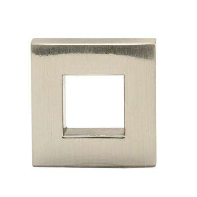 Contemporary 31/32 in. (25 mm) Brushed Nickel Square Cabinet Knob