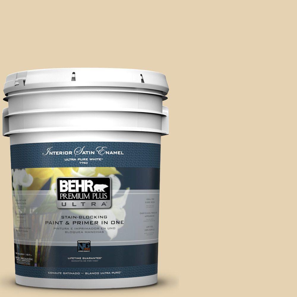 BEHR Premium Plus Ultra 5-gal. #S310-2 Journal White Satin Enamel Interior Paint