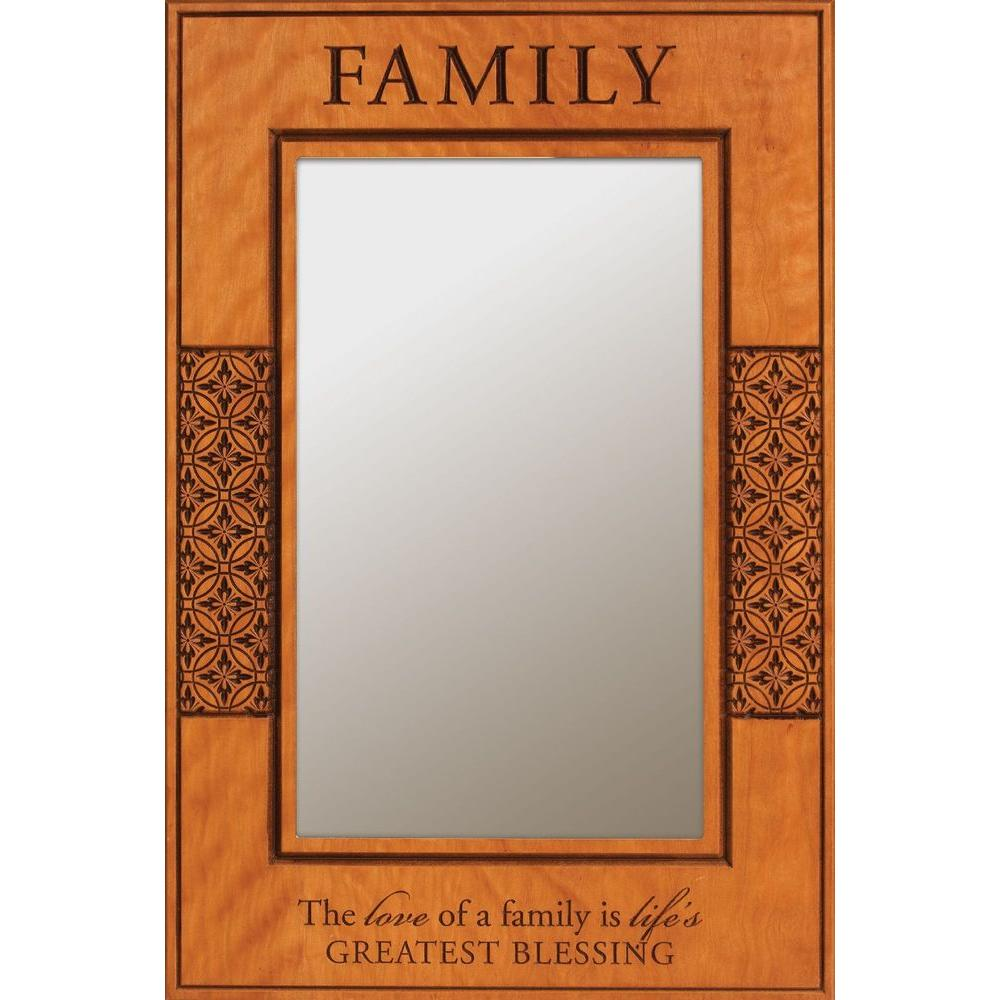 P. Graham Dunn 23.75 in. x 35.75 in. Carved Cherry Framed Mirror