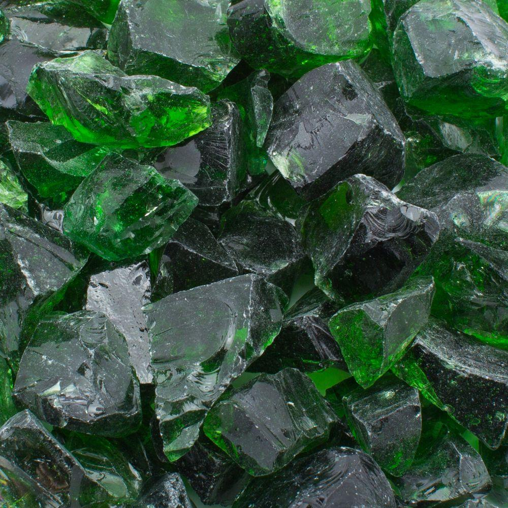 Margo Garden Products 1/2 in. 10 lb. Medium Green Landscape Fire Glass