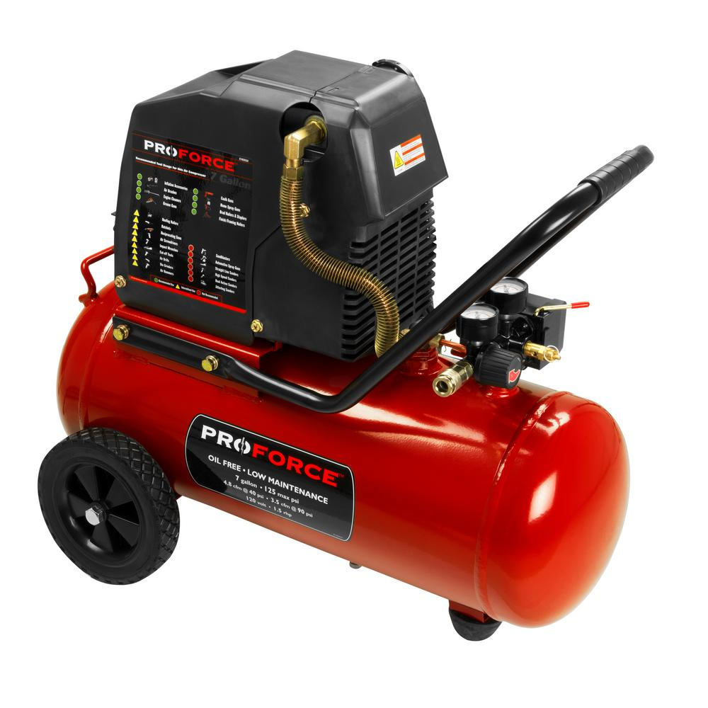 Proforce 7 Gal Oil Free Electric Air Compressor With Kit Vpf1580719