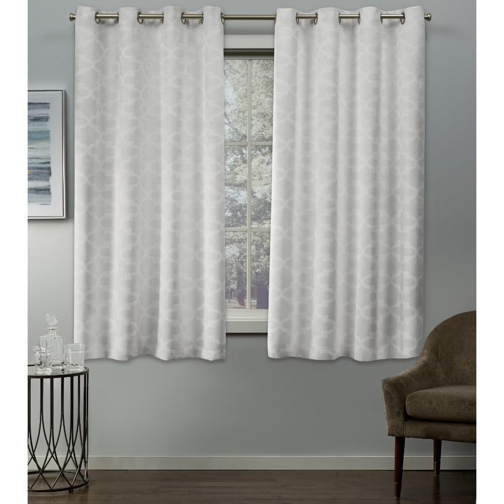 Cartago Vanilla Grommet Top Curtain Pair