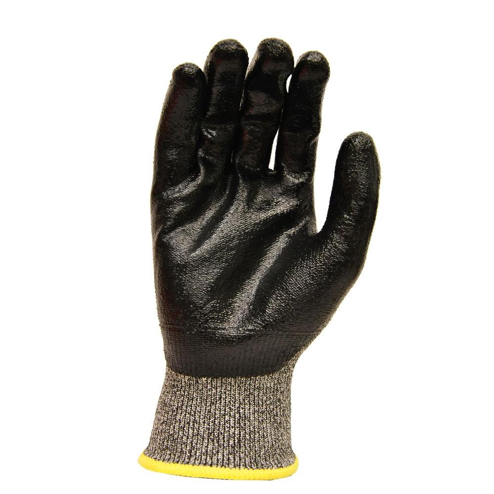 GFProducts G & F Products CutShield Large Grey NitrileTech Cut Slash Puncture Resistant Gloves, Adult Unisex, Black