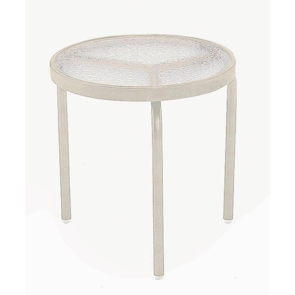 Antique Bisque Commercial Acrylic Top Patio Side Table