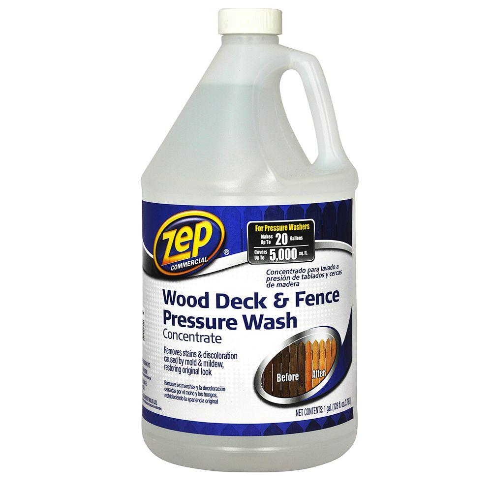 ZEP 128 oz. Deck and Fence Cleaner-ZUDFW128 - The Home Depot