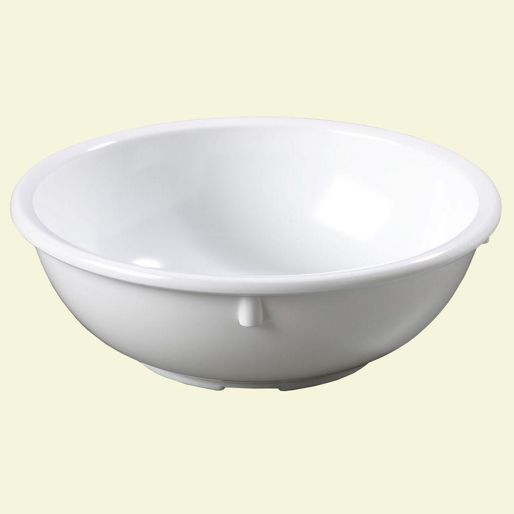 14 oz., 5.37 in. Diameter Melamine Nappy Bowl in White (Case