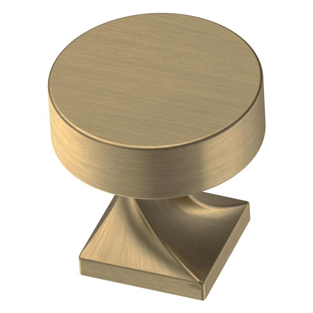 Everly 1-1/8 in. (28mm) Champagne Bronze Round Cabinet Knob