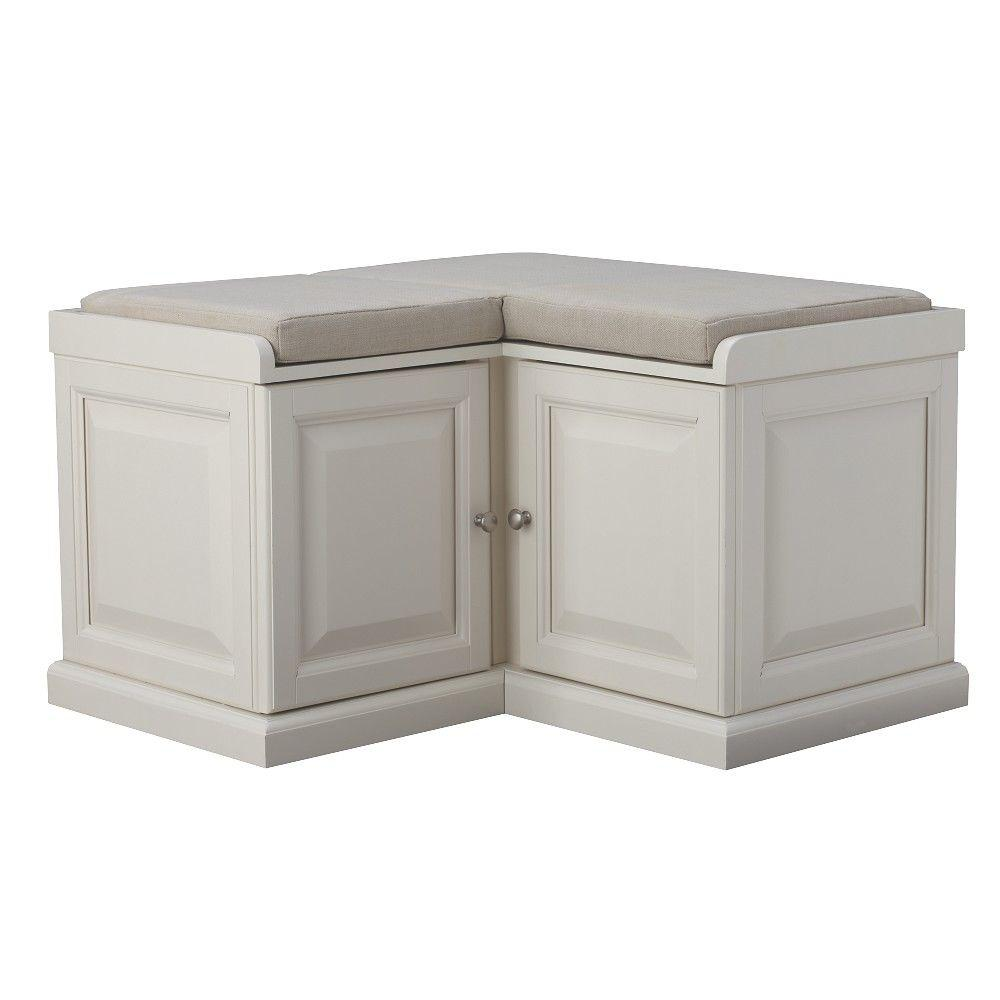 Home Decorators Collection Walker White Storage Bench  sc 1 st  The Home Depot & Home Decorators Collection Walker White Storage Bench-7400600410 ...