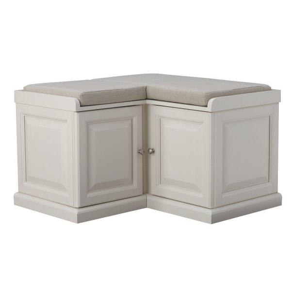 Dining Room Bench With Storage: Home Decorators Collection Walker White Storage Bench
