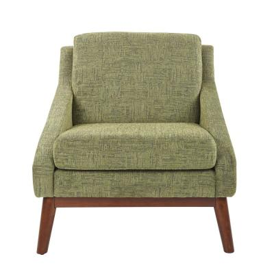 Davenport Chair in Olive with Coffee legs