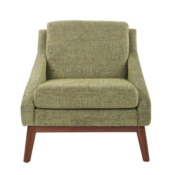 Osp Home Furnishings Davenport Chair In Olive With Coffee Legs