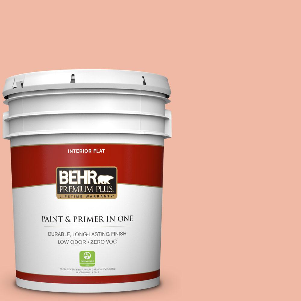 BEHR Premium Plus 5-gal. #220C-3 Antique Cameo Zero VOC Flat Interior Paint