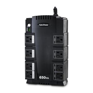 CyberPower 650VA 8-Outlet UPS Battery Backup-SX650G - The Home Depot