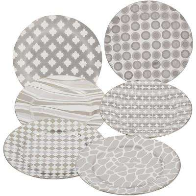 Silver Plated Tapered 8 in. Dessert and Salad Plate (Set of 6)