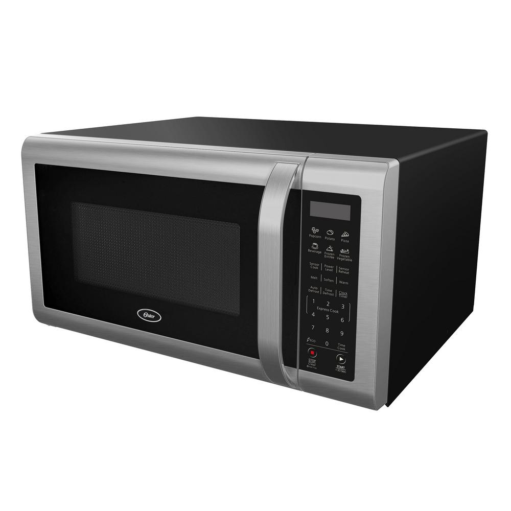 Oster 1 4 Cu Ft Countertop Microwave In Black Stainless