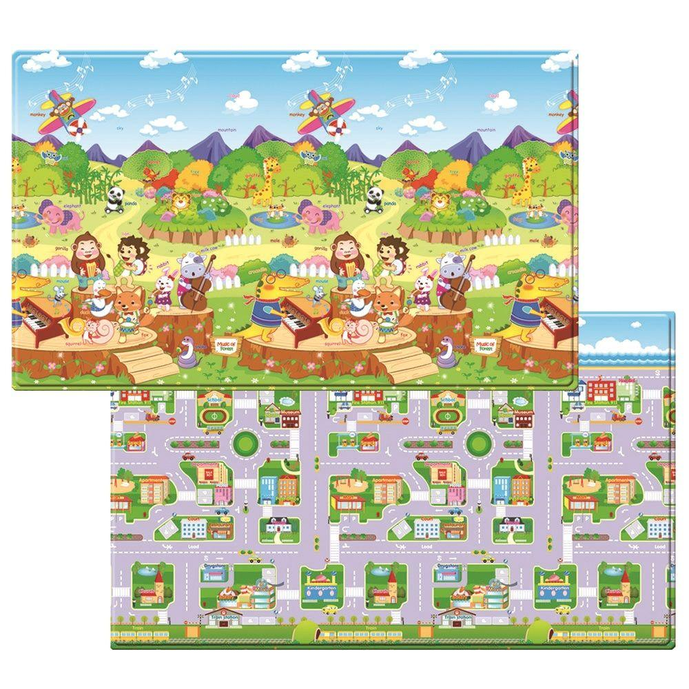 4 ft. 6 in. x 7 ft. 6 in. Animal Orchestra Play Mat, Vari...