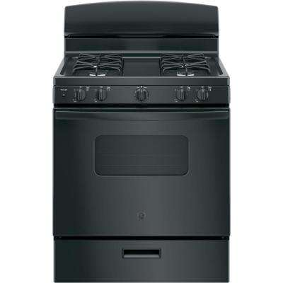 30 in. 4.8 cu. ft. Gas Oven in Black