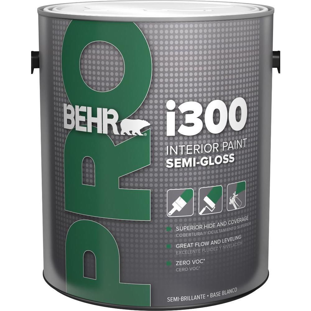 Behr pro 1 gal i300 white semi gloss interior paint - Eggshell vs semi gloss ...
