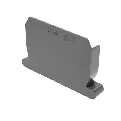 NDS 4 in. PVC Spee-D Channel End Cap