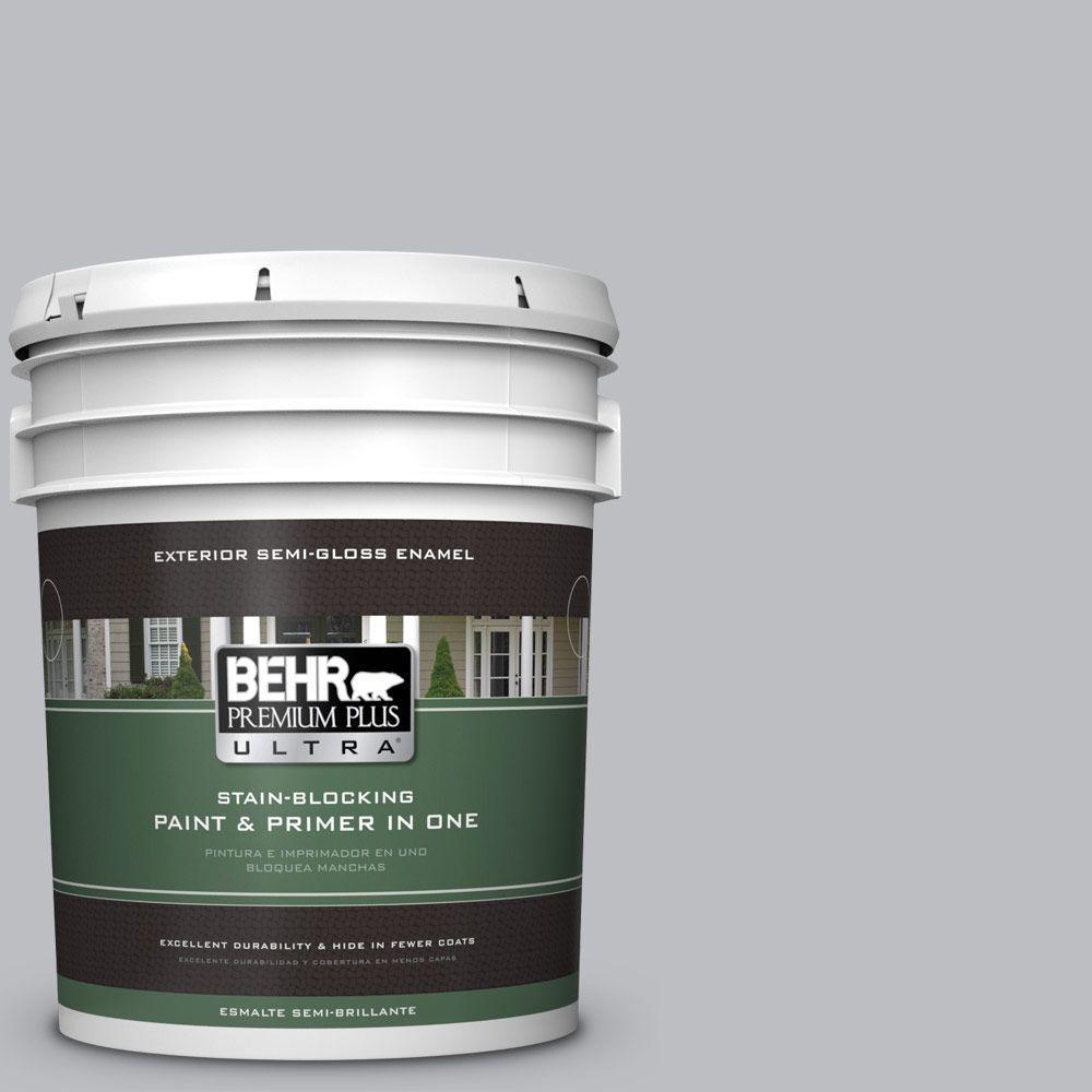 BEHR Premium Plus Ultra 5-gal. #N530-3 High Speed Access Semi-Gloss Enamel Exterior Paint
