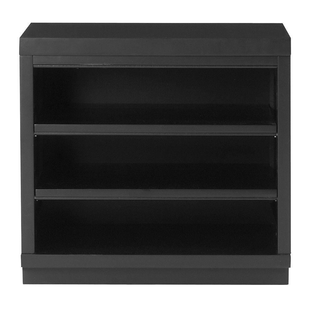 15 Inspirations Of Free Standing Shelving Units Wood: HDX 4-Shelf 15 In. D X 28 In. W X 52 In. H Black Plastic