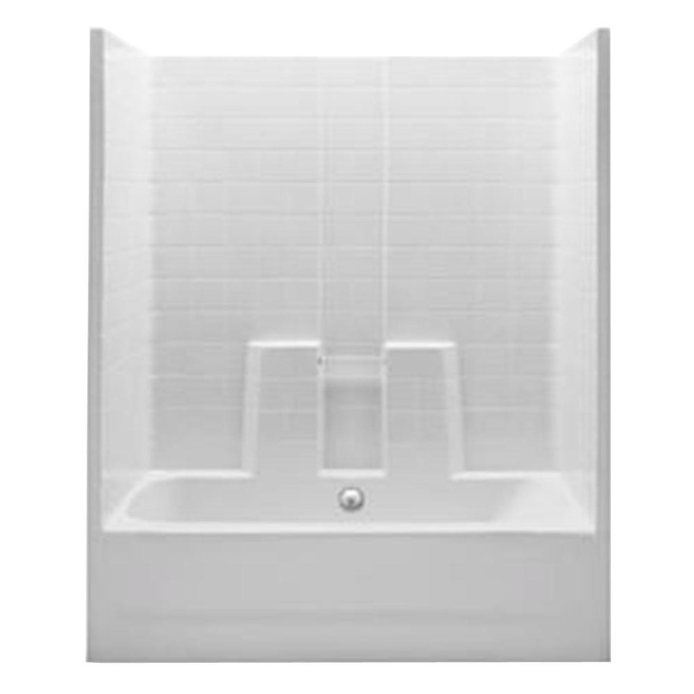 1 Piece Tub Shower Combo. Aquatic Everyday 60 in  x 30 74 1 Piece Bath and Shower