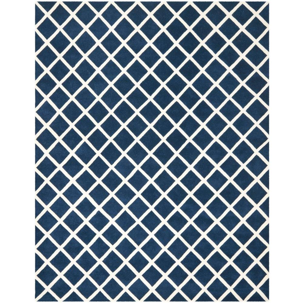 Chatham Dark Blue/Ivory 9 ft. x 12 ft. Area Rug