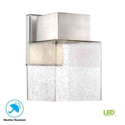 Essex Brushed Nickel Outdoor LED Powered Wall Lantern