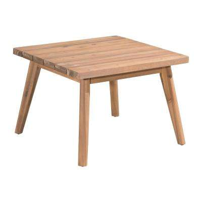 Grace Bay Wood Outdoor Patio Side Table in Natural