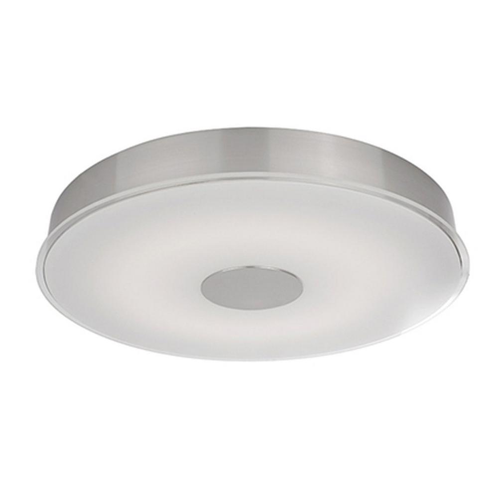 Radionic Hi Tech Nevaeh 60-Watt Equivalence Integrated LED Brushed Nickel Ceiling Flush Mount