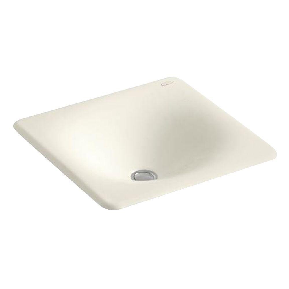 Kohler Iron Tones Drop In Cast Bathroom Sink Biscuit
