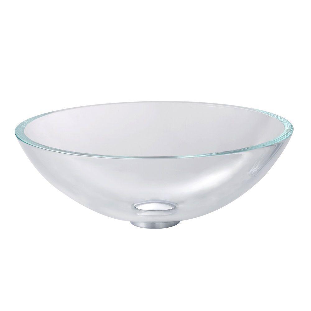 Kraus Glass Vessel Sink In Crystal Clear