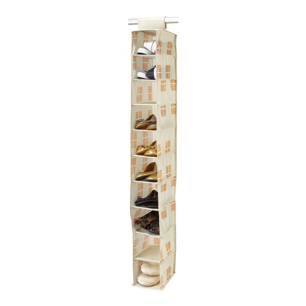 Cameo Key Cream 10-Shelf Shoe Organizer