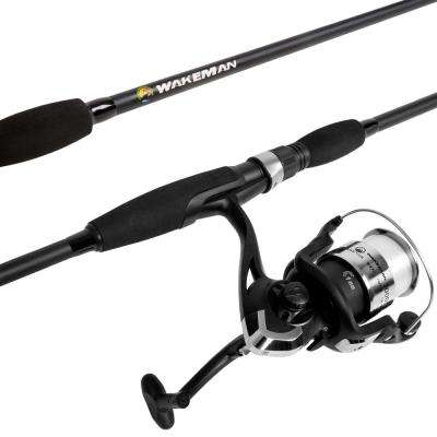 Strike Series Spinning Rod and Reel Combo in Blackout