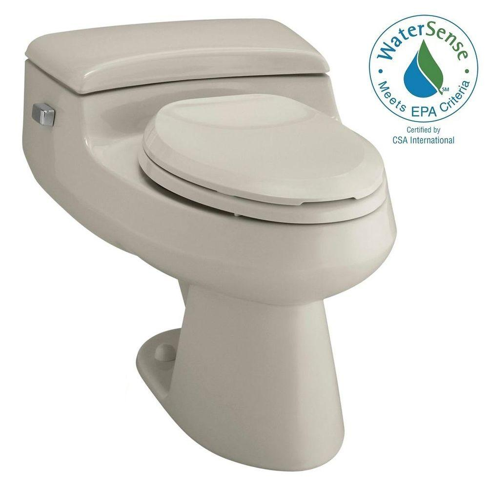 KOHLER San Raphael Comfort Height 1-piece 1 GPF Single Flush Elongated Toilet in Sandbar