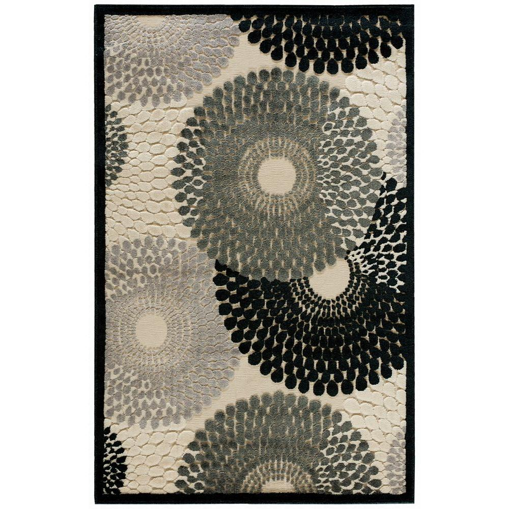 Nourison Graphic Illusions Parchment 2 ft. 3 in. x 3 ft. 9 in. Accent Rug