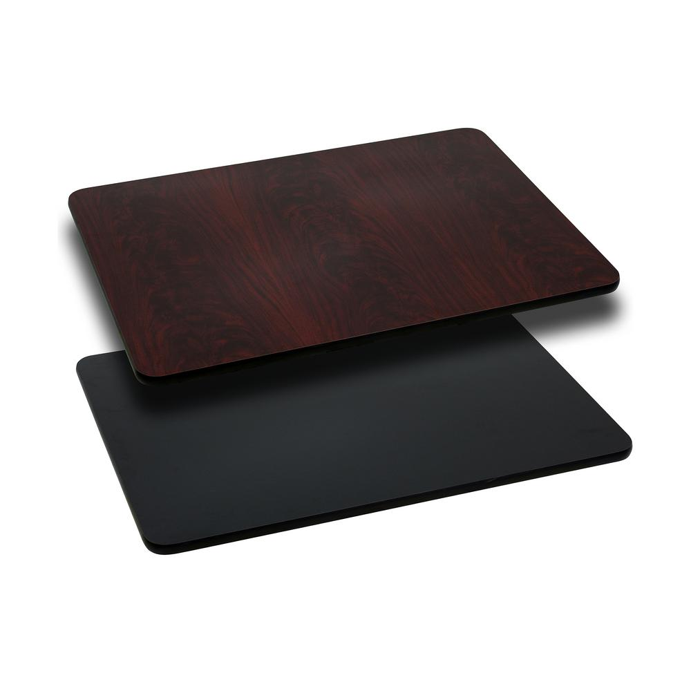 Black/Mahogany Rectangle Table Top