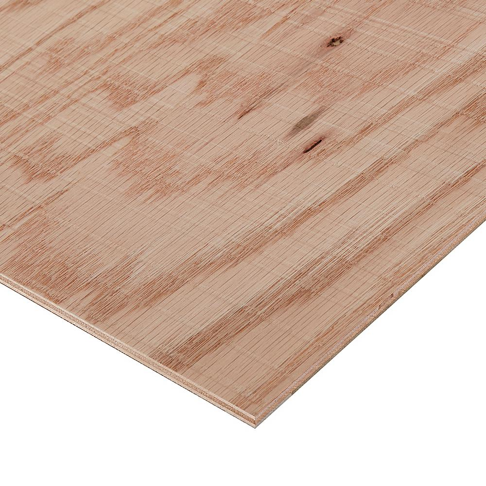 Columbia Forest Products 1/2 in. x 2 ft. x 4 ft. Rough Sawn Red Oak Plywood Project Panel