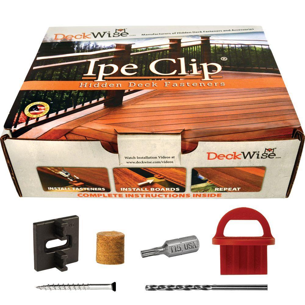 Extreme4 Ipe Clip Black Biscuit Style Hidden Deck Fastener Kit for