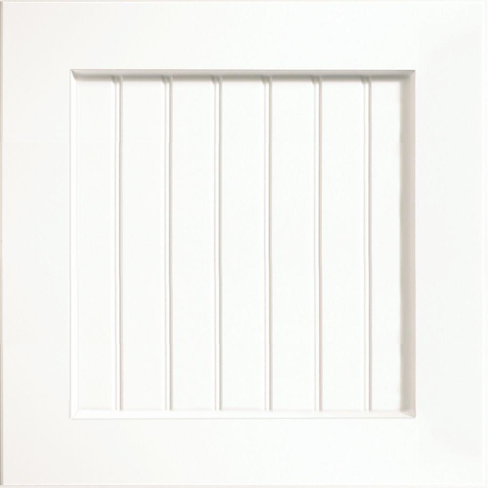 KraftMaid 15x15 in. Cabinet Door Sample in Polar Ridge White Thermofoil