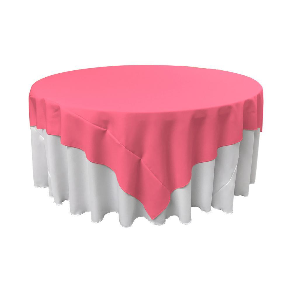 LA Linen 72 in. x 72 in. Hot Pink Polyester Poplin